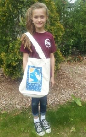 organic cotton falmouth water stewards bag happy girl